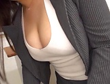 Busty teacher Makise Ai knows handle cocks picture 3