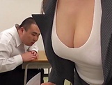 Busty teacher Makise Ai knows handle cocks picture 4