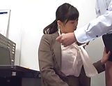 Hirose Yoko giving head at the office picture 11