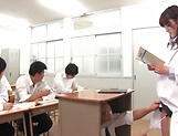 Cute Iioka Kanako loves being pleased in class picture 13