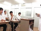 Cute Iioka Kanako loves being pleased in class picture 1