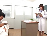 Cute Iioka Kanako loves being pleased in class picture 2