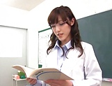 Cute Iioka Kanako loves being pleased in class picture 3