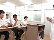 Sexy teacher Iioka Kanako get rammed hard