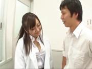 Busty Japanese teacher in black stockings Mashiro Yuuna in group sex