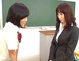 Sexy Asian teacher gets fucked by her student