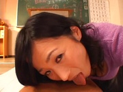 Sexy Japanese mature lady gets her tits and pussy banged on pov