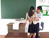 Hirose Yoko has her twat rammed in class picture 15