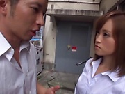 Hot Asian Kirishima Rino gets fucked hardcore doggy style