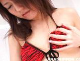 Hot chick Kan Hasegawa soaps her pussy and drills her tight anal