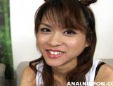Asian girl with fancy pigtails Akira Shiratori enjoys anal plug picture 3