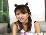 Asian girl with fancy pigtails Akira Shiratori enjoys anal plug picture 6