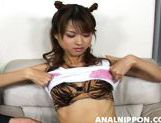 Asian girl with fancy pigtails Akira Shiratori enjoys anal plug picture 7