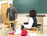 Shameless Japanese schoolgirl Ichiko masturbates on Asian anal porn