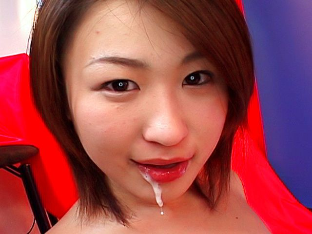 Gorgeous cutie Kokoro Miyauchi deepthroats sexy guy on Asian anal porn