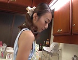 Alluring housewife banged in the kitchen