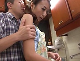 Steamy hot milf nailed in the kitchen picture 3