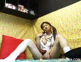 Yuzuru Masturbate Horny Asian babety Teen Enjoys Her Toys