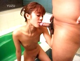 Alluring Asian schoolgirl is in a wicked foursome