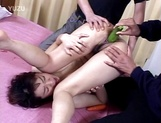 Amateur Japanese milf gets toyed and creampied anus picture 13