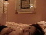 Petite Japanese milf with fragile body sucks cock on pov picture 16