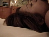 Petite Japanese milf with fragile body sucks cock on pov picture 48