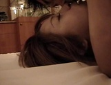 Petite Japanese milf with fragile body sucks cock on pov picture 52
