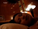 Petite Japanese milf with fragile body sucks cock on pov picture 74