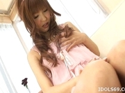 Aisaki Kotone Pretty Asian babe Is Aan Asian Teen Who Gives Excellent Head