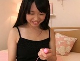 Savory Asian teen Kaho Mizuzaki tries to drill pussy with toys