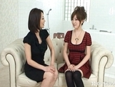 Rio Hamasaki Hot Horny Asian Teen Enjoys Some Lesbian Fun