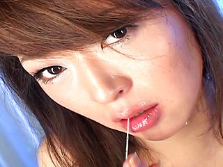 Reina Matsuyuki Asian babe Has A Mouth Full Of Drippy Cum