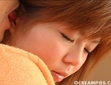 Ai Himeno Cute Teen babe Gets Her Pussy  With Cum picture 11