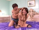 Megu Ayase Hot Asian Babe Cheerfully Gets Her Pussy Cum