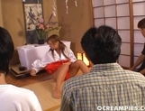 Aya Fuji Nasty Asian Teen  In A Bowl In Front Of Dates