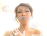 Neon Kanda Asian Babe Enjoys Her Shaved Pussy And Dildo Play