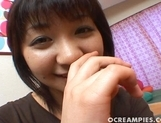 Cute Asian Teen Airi Momose gets her pussy creamfilled