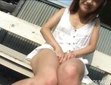 Izumi Yamaguchi Hot Asian Babe Fingers Her Tight Pussy