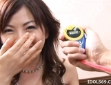 Ran Monbu Hot Japanese babe Gets A Massive Facial