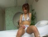 Chizuru Morill Naughty Asian babe Masturbates picture 15