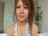 Chizuru Morill Naughty Asian babe Masturbates