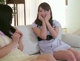 Frisky Asian lesbian gals Yui Hatano, Ai Uehara finger pussies picture 5