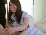 Frisky Asian lesbian gals Yui Hatano, Ai Uehara finger pussies picture 9