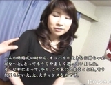 Japanese AV Model Shows Off Her Big Tits While Riding Cock