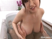 Rio Hamasaki Lovely Japanese Teen Massages Her Date Before A Fucking
