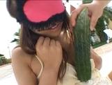 Izumi Yamaguchi Naughty Asian babe Masturbates With Vegetables picture 14
