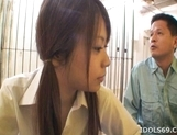 Chizuru Morill Naughty Schoolgirl Gets Her Pussy Fucked HArd By Older Guy picture 11