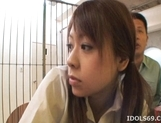 Chizuru Morill Naughty Schoolgirl Gets Her Pussy Fucked HArd By Older Guy picture 13