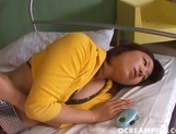 Mitsu Anno Enjoys Showing Off Her Hairy Creampie Pussy