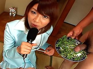 Mitsu Anno Gets A Hard Cock Salad At Her Favorite Diner